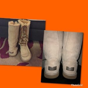UGG Tall Lace Up Uptown 11 Boots Sz 7